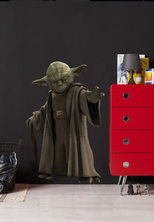 wandsticker deko sticker 14721 star wars yoda 100 x 70 cm 1 stck ebay. Black Bedroom Furniture Sets. Home Design Ideas