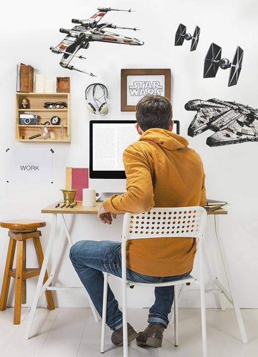 wandsticker deko sticker 14723 star wars spaceships 100 x 70 cm 1 stck ebay. Black Bedroom Furniture Sets. Home Design Ideas