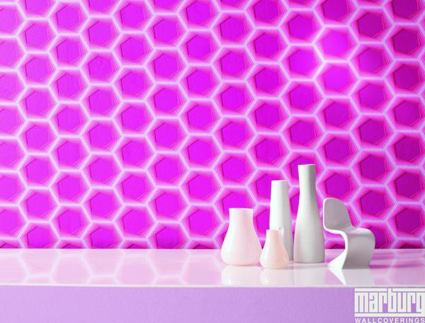 karim rashid vlies tapete retro style pink 52027 euro pro m. Black Bedroom Furniture Sets. Home Design Ideas