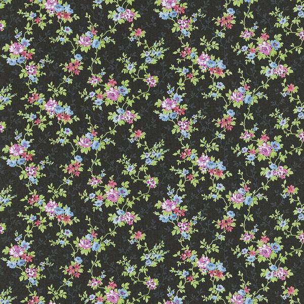 petite fleur 3 papier peint fleurs noir color 285146 ebay. Black Bedroom Furniture Sets. Home Design Ideas