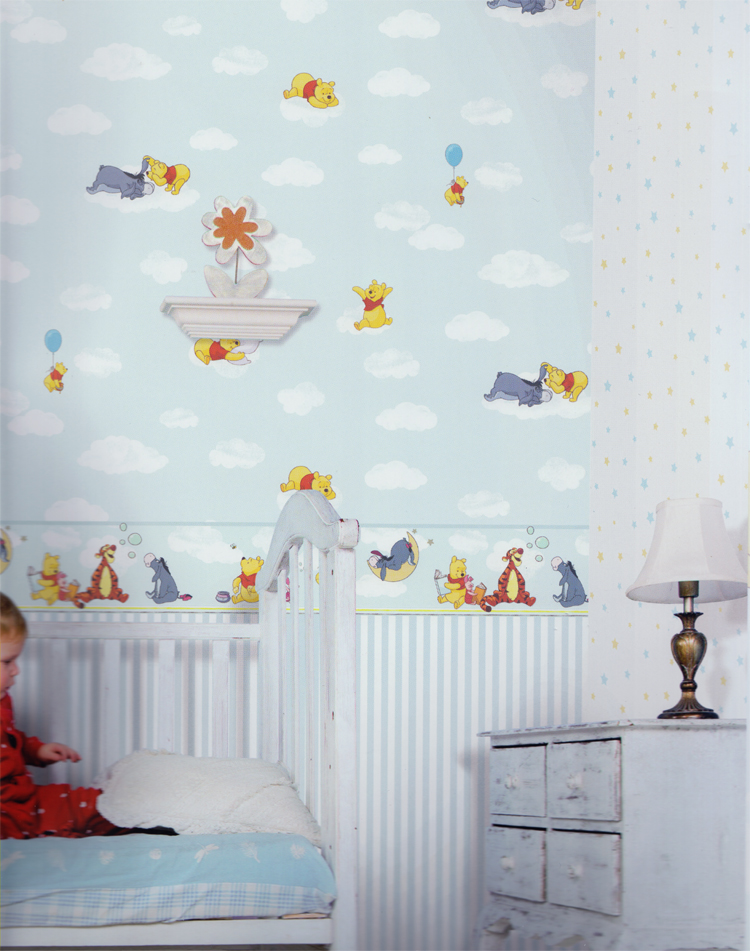 disney deco winnie pooh tapete kinderzimmer tapeten 3001 1 blau euro m ebay. Black Bedroom Furniture Sets. Home Design Ideas