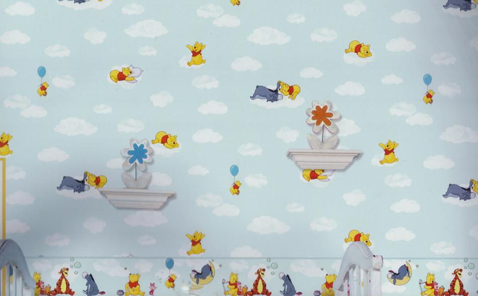 Disney deco winnie pooh tapete kinderzimmer tapeten 3001 3 for Winnie pooh kinderzimmer