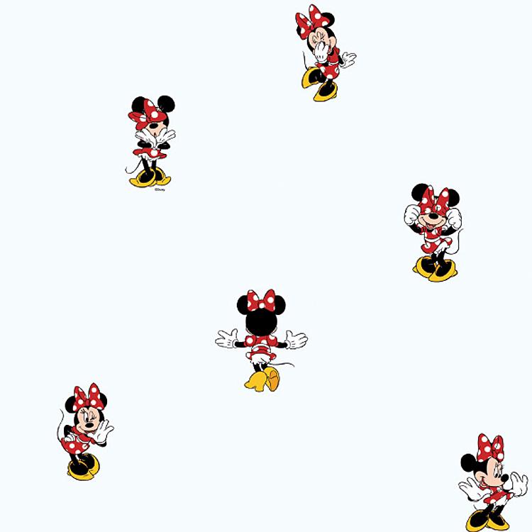 Kinderzimmer Tapeten Disney : Disney Deco Minnie Mouse Tapete Kinderzimmer-Tapeten 3002-1 (3.56 Euro