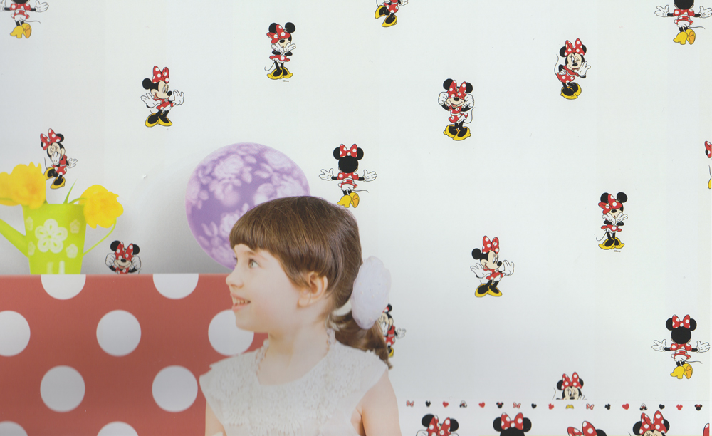 disney deco minnie mouse tapete kinderzimmer 3002 2 rosa pink euro m ebay. Black Bedroom Furniture Sets. Home Design Ideas