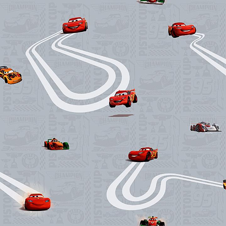 Disney Deco Cars Autos Tapete Kinderzimmer-Tapeten 3005-3 grau (3.56 ...