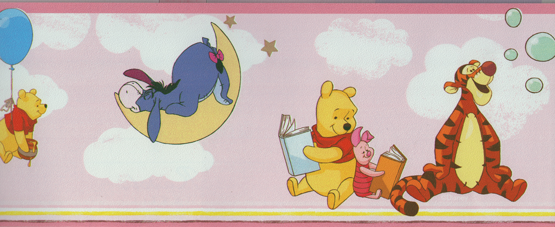 Disney deco tapeten bord re 3501 2 selbstklebend winnie for Winnie pooh kinderzimmer