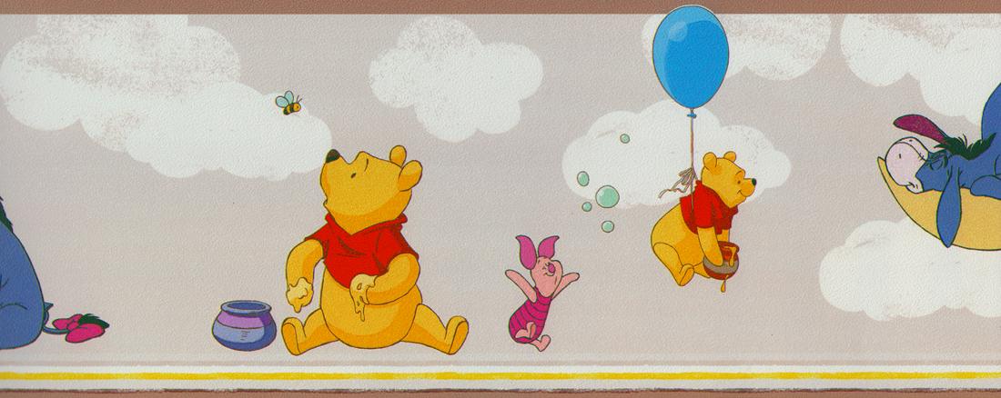 Kinderzimmer Tapeten Winnie Pooh : Disney Deco Tapeten-Bord?re 3501-3 Selbstklebend Winnie Pooh Borte (3
