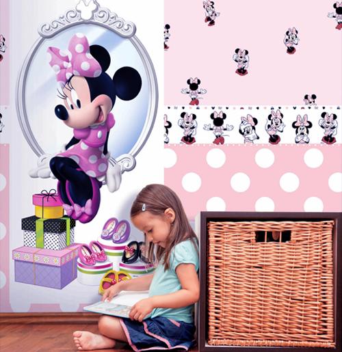 disney deco tapeten bord re 3502 1 selbstklebend minnie mouse 3 09 euro m ebay. Black Bedroom Furniture Sets. Home Design Ideas
