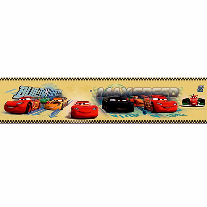 Selbstklebende Tapete Cars : Tapeten-Bord?re 3505-2 Selbstklebend Borte Cars gelb (3,09 Euro/m