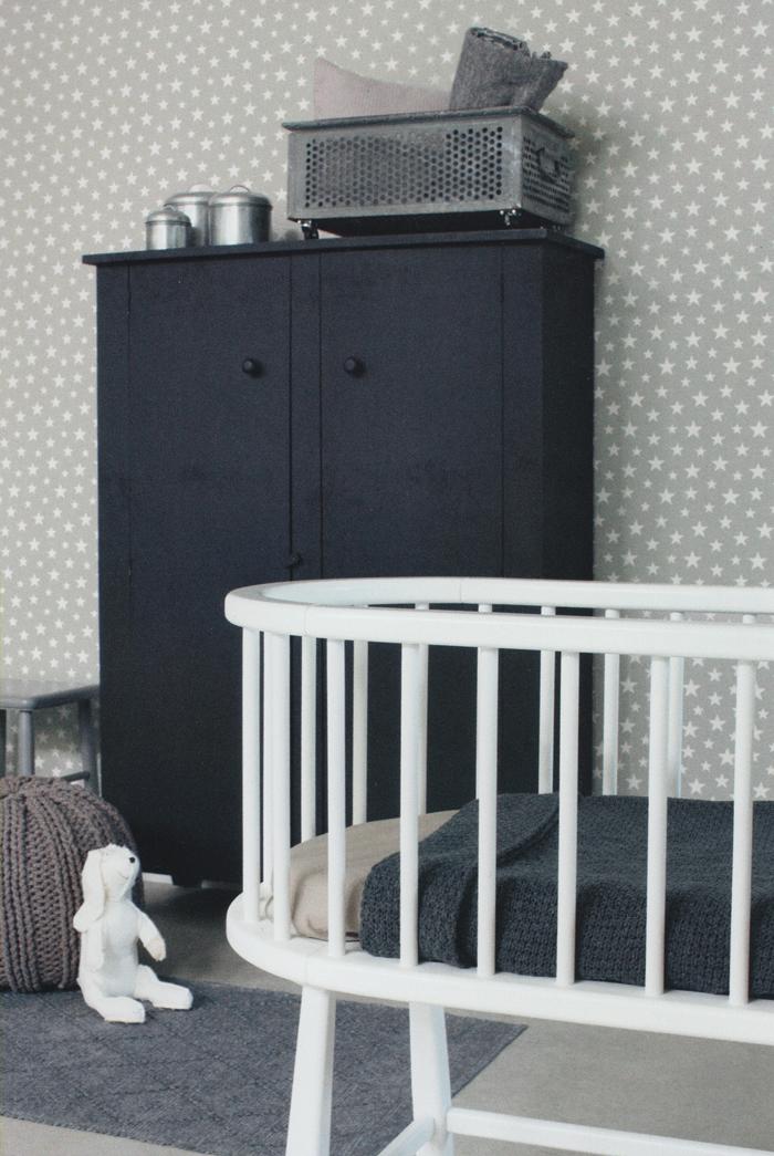 everybody bonjour vlies tapete 128716 sterne grau wei euro m ebay. Black Bedroom Furniture Sets. Home Design Ideas