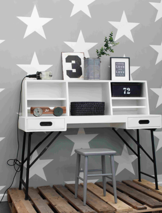 everybody bonjour vlies tapete 128702 sterne grau wei euro m ebay. Black Bedroom Furniture Sets. Home Design Ideas