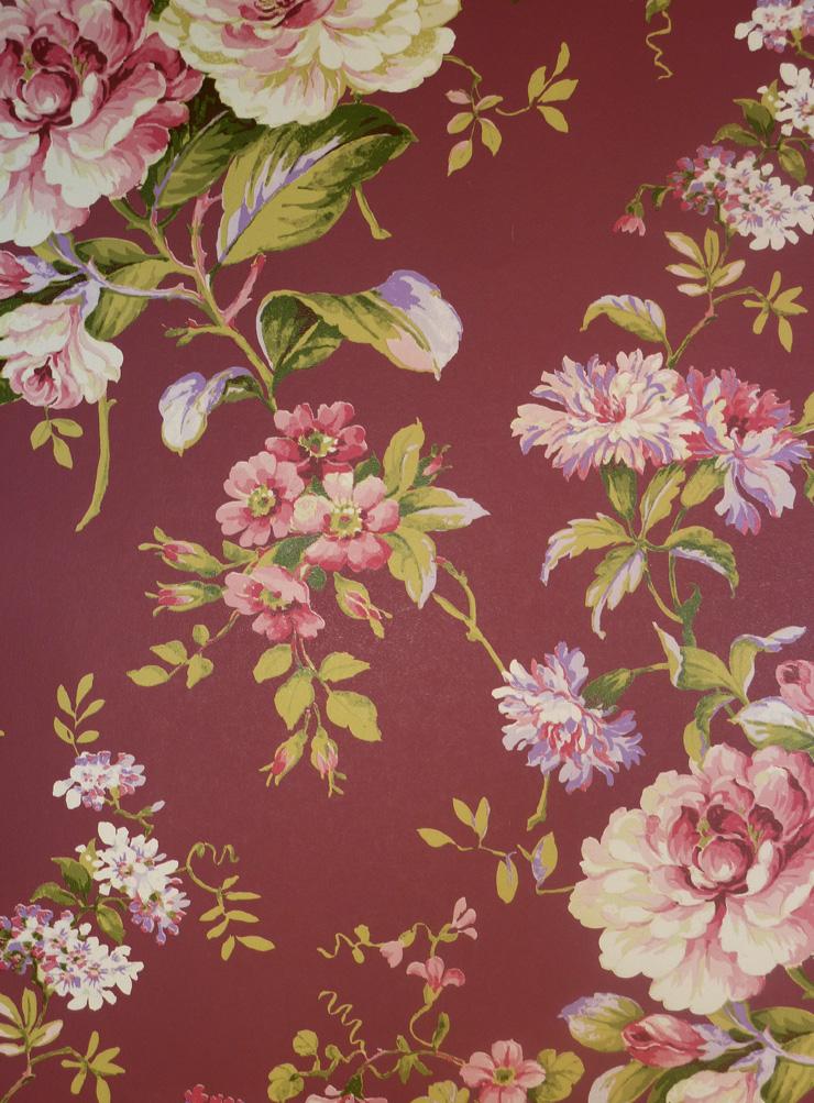 aromas vlies tapete 621 4 floral blumen rot landhaus stil euro pro m ebay. Black Bedroom Furniture Sets. Home Design Ideas
