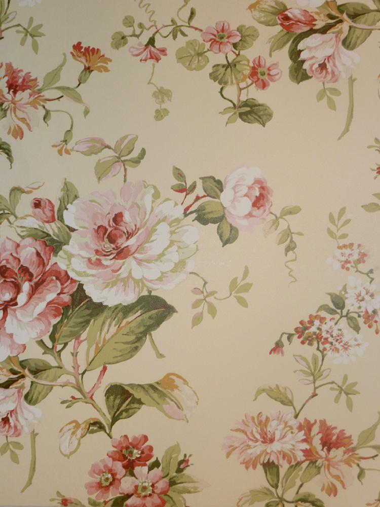 Aroma carta da parati non tessuta 621 3 fiori floreale for Carta parati inglese