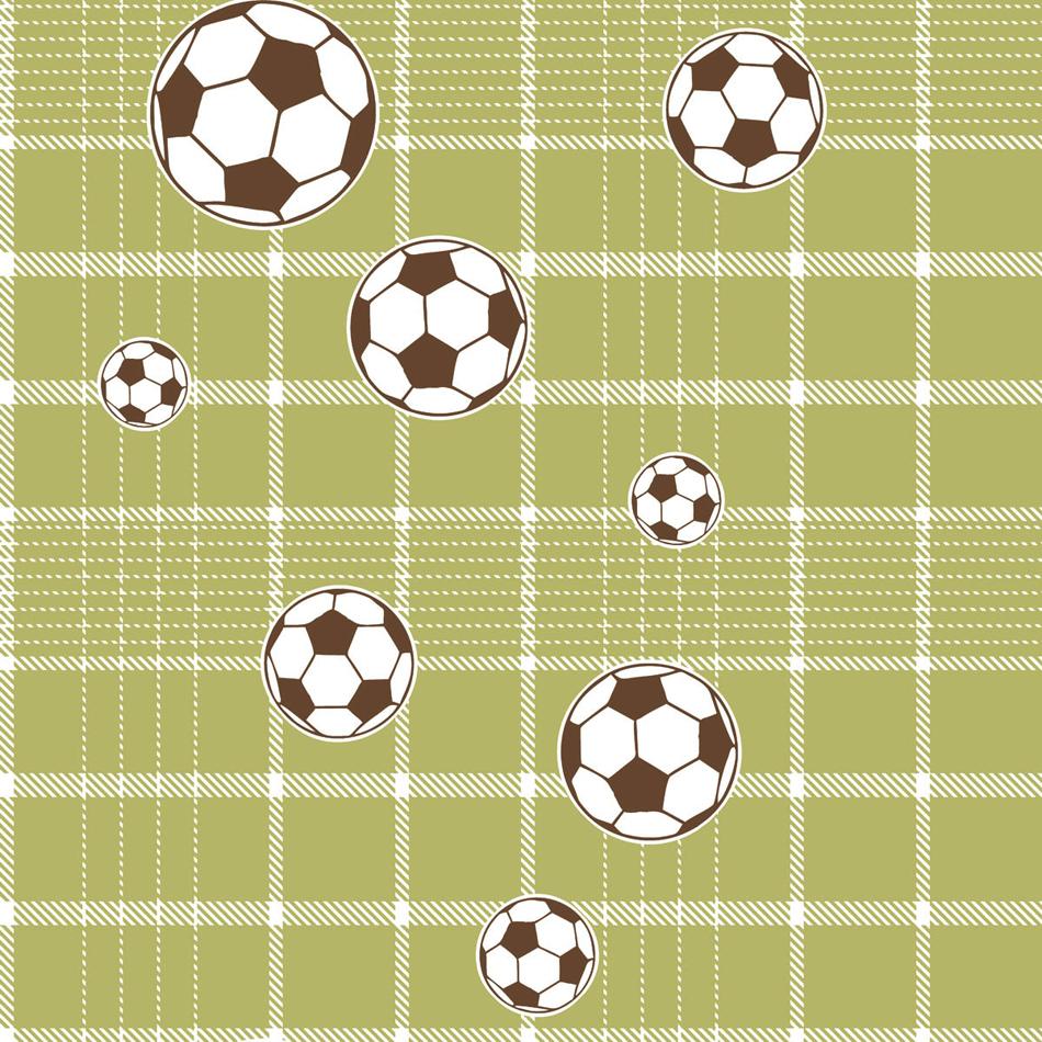 bim bum bam vlies-tapete kinderzimmer tapete 002245 fußball grün