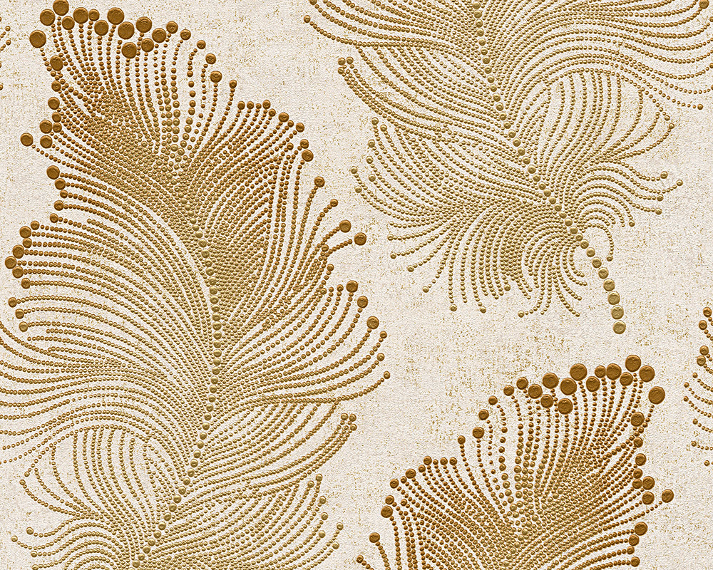 burlesque de boh me papier peint papier peint intiss 96045 2 floral or cr me ebay. Black Bedroom Furniture Sets. Home Design Ideas