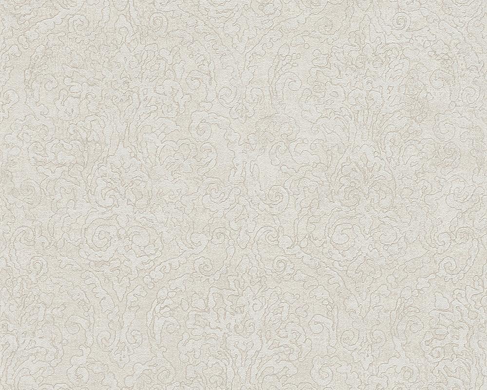 Bohemian Burlesque Tapete : Bohemian Burlesque Tapete Vlies-Tapeten 96047-6 Barock creme-grau (5