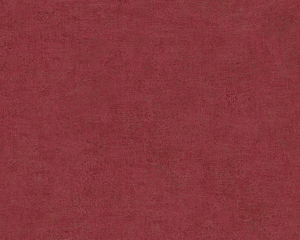 Bohemian Burlesque Tapete : Bohemian Burlesque Tapete Vlies-Tapeten 96079-9 uni rot Patina (3.85