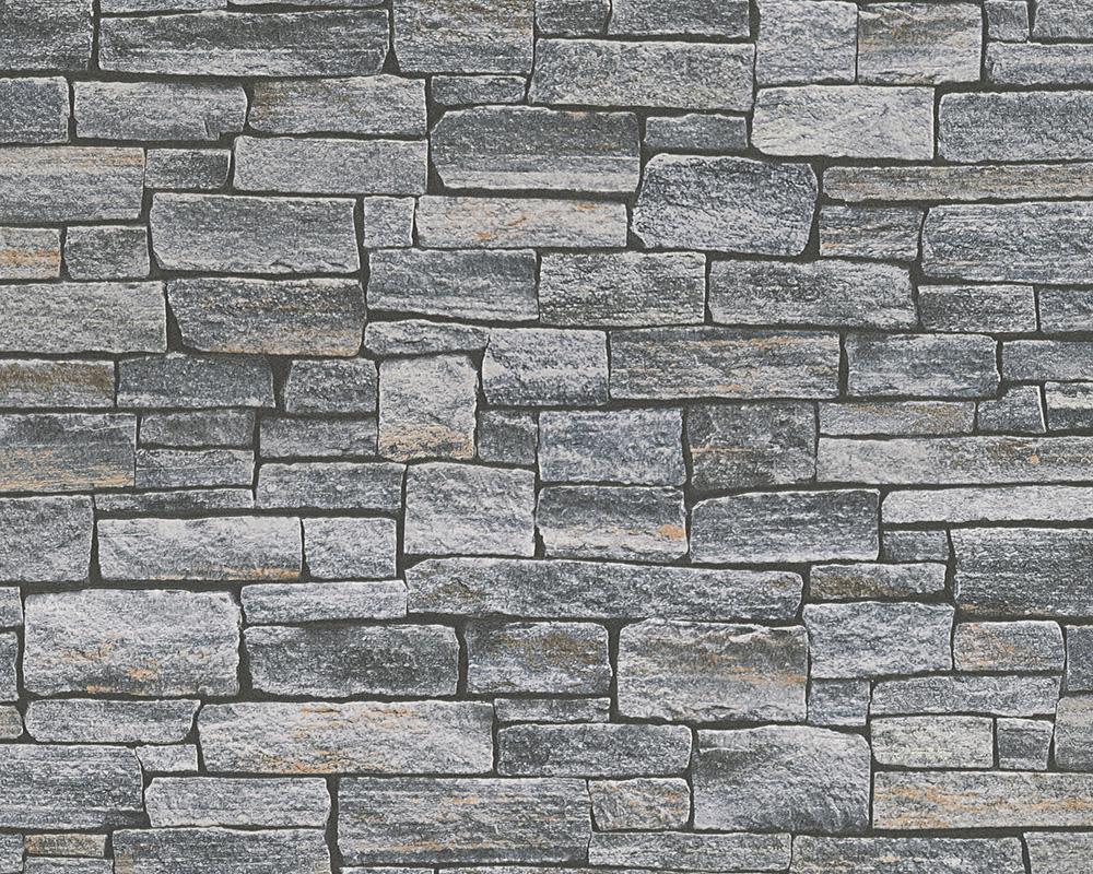 Dekora natural 6 fieltro papel pintado muro de piedra for Papel pintado piedra gris