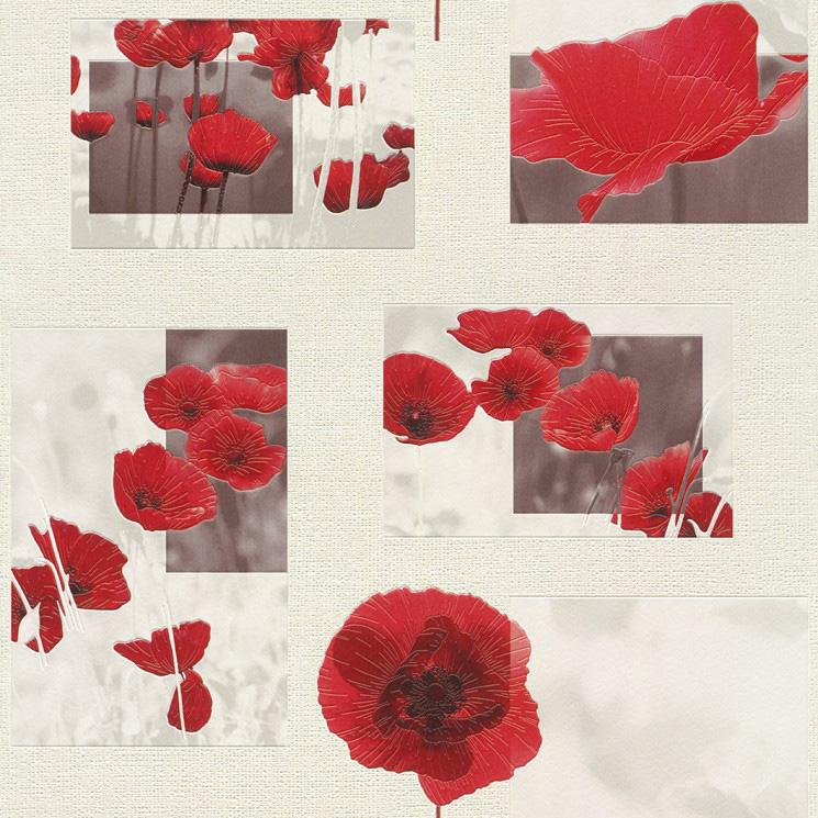 Aqua alivio de la iv papel pintado de vinilo 853308 flores - Papel pintado y vinilo ...
