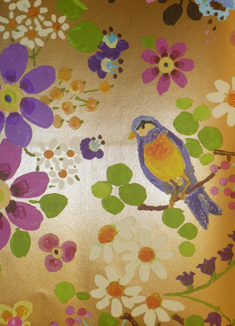 Rice everyday magic fieltro papel pintado 359071 floral for Papel pintado grueso