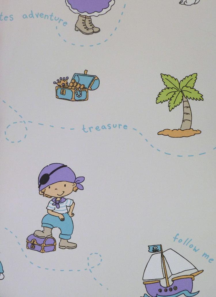 Poco loco kids fieltro papel pintado 168 01 piratas - Papel pintado piratas ...