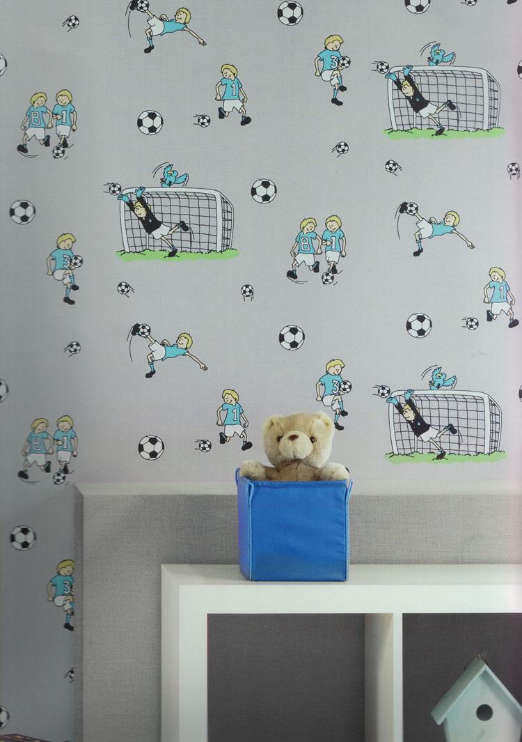 poco loco kids vlies tapete 159 01 fu ball kinderzimmer. Black Bedroom Furniture Sets. Home Design Ideas