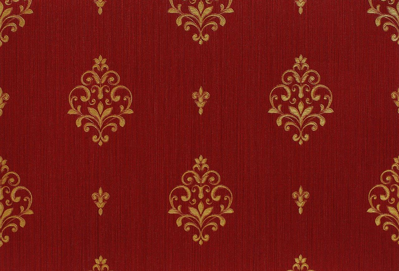 neapolis papier peint en vinyle baroque or rouge brillant 91805 von schmitz ebay. Black Bedroom Furniture Sets. Home Design Ideas