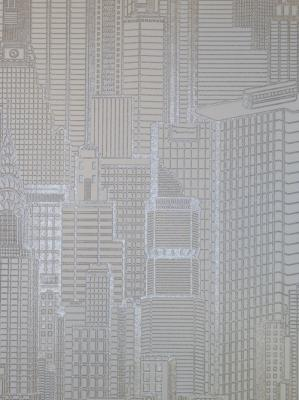 queens 2013 tapete vlies tapeten 795103 skyline silber ebay. Black Bedroom Furniture Sets. Home Design Ideas