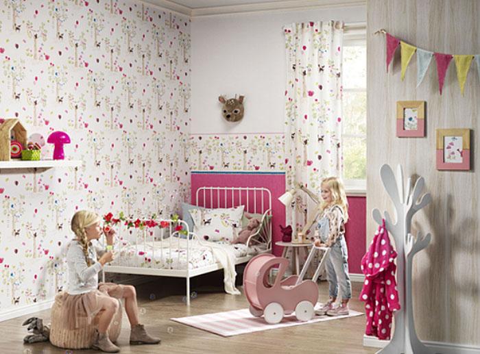 Bambino xvii kinderzimmer tapete 247220 wald tiere v rasch euro pro m ebay - Kinderzimmer tapete rasch ...