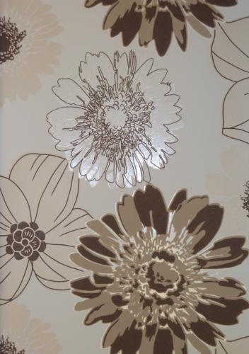 queens 2013 tapete vlies-tapeten 795240 floral braun-beige - Tapeten Braun Beige