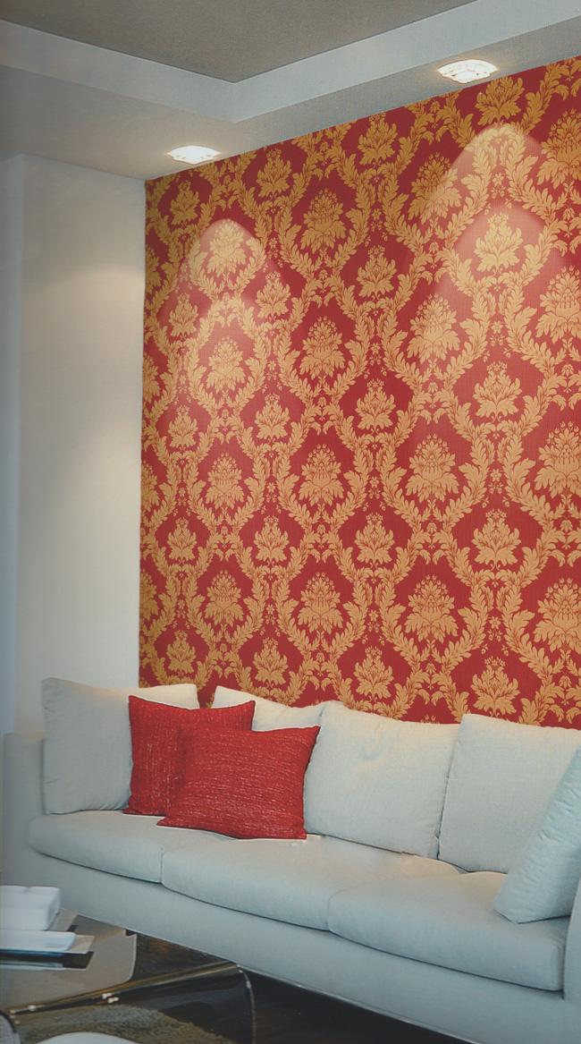 ornamenta edel barock tapete ornamente vinyl 95115 rot euro pro m ebay. Black Bedroom Furniture Sets. Home Design Ideas