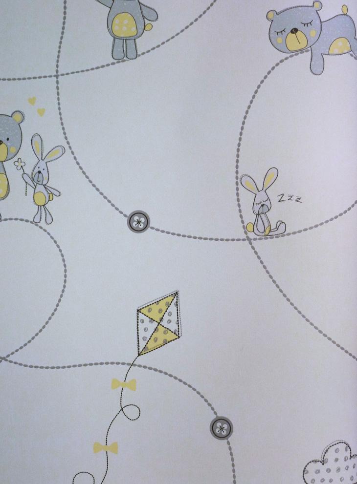 carousel kinderzimmer tapete dl21101 b rchen grau gelb euro pro m ebay. Black Bedroom Furniture Sets. Home Design Ideas