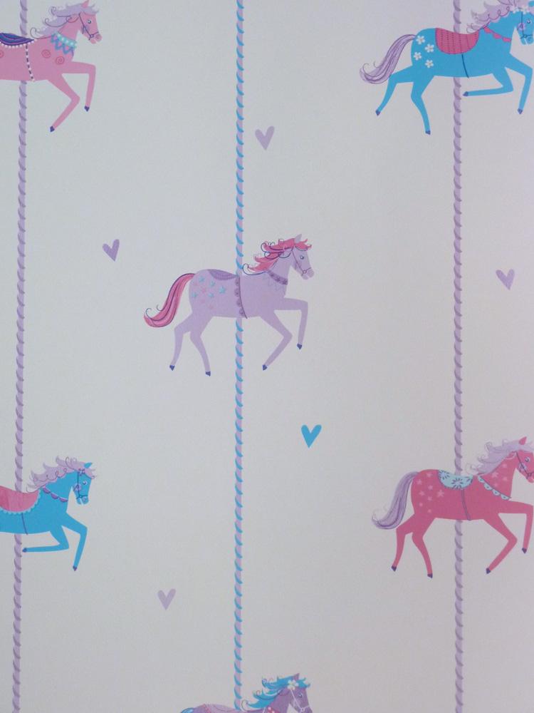 carousel kinderzimmer tapete dl21120 pferde karussell euro pro m 5011419211203 ebay. Black Bedroom Furniture Sets. Home Design Ideas