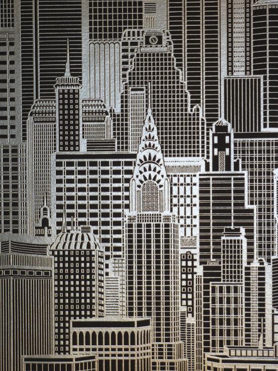 queens 2013 tapete vlies tapeten 795110 skyline schwarz silber ebay. Black Bedroom Furniture Sets. Home Design Ideas