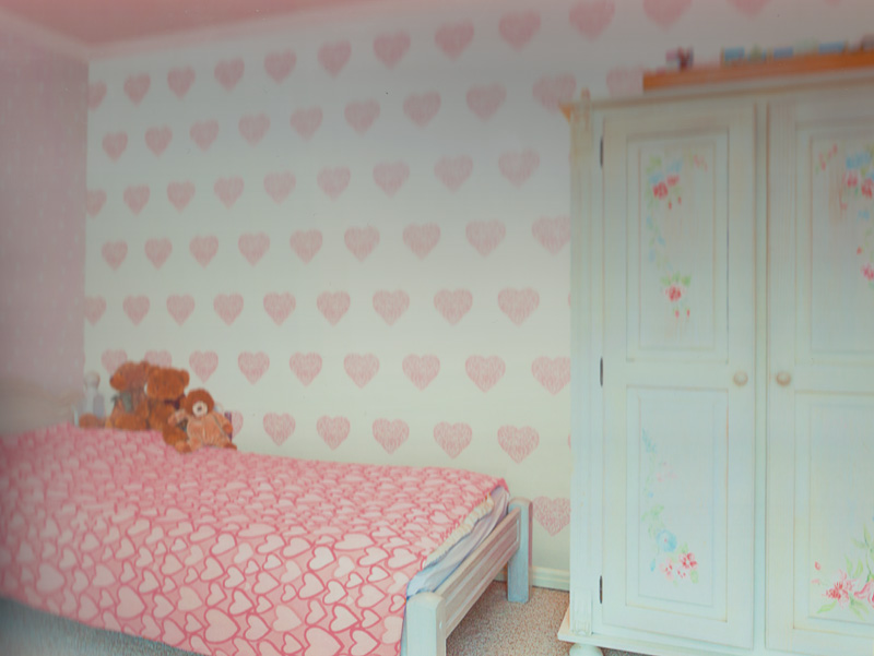 carousel kinderzimmer tapete dl21115 herzen gro rosa euro pro m ebay. Black Bedroom Furniture Sets. Home Design Ideas