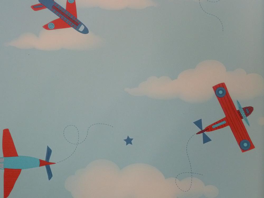 Carrusel papel pintado infantil dl21134 avi n rojo azul - Papel pintado piratas ...