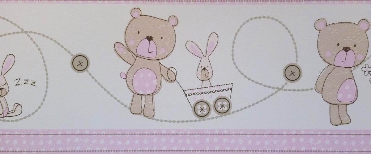 carousel tapeten bord re kinderzimmer borte dlb050073 b rchen rosa euro m ebay. Black Bedroom Furniture Sets. Home Design Ideas