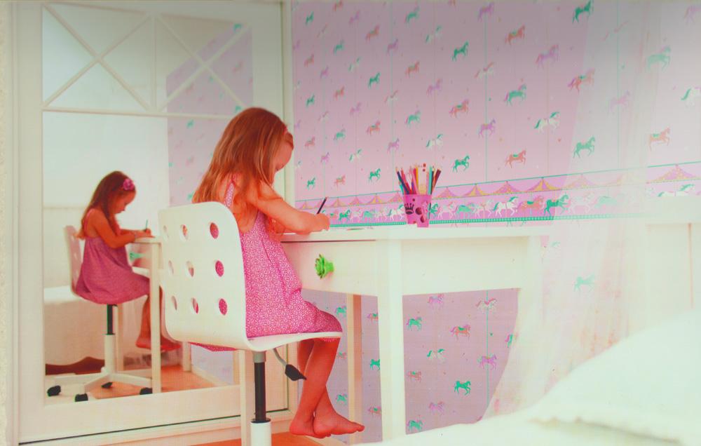 carousel tapeten bord re kinderzimmer borte dlb050081. Black Bedroom Furniture Sets. Home Design Ideas
