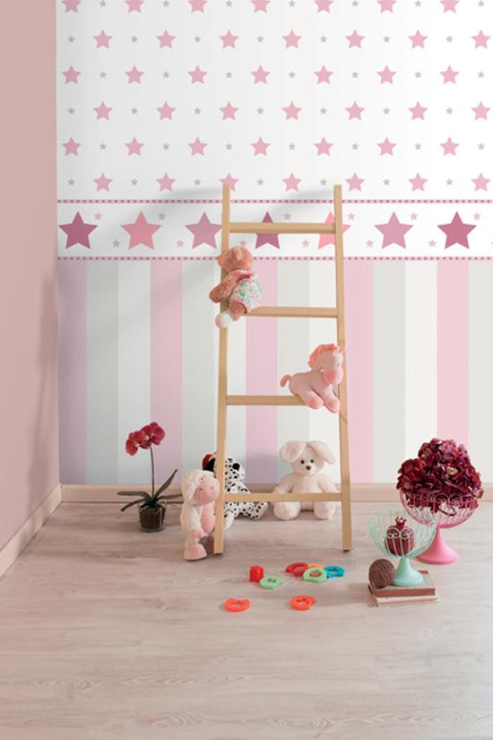 bimbaloo 2 kinderzimmer tapete 330150 sterne rasch textil euro m ebay. Black Bedroom Furniture Sets. Home Design Ideas