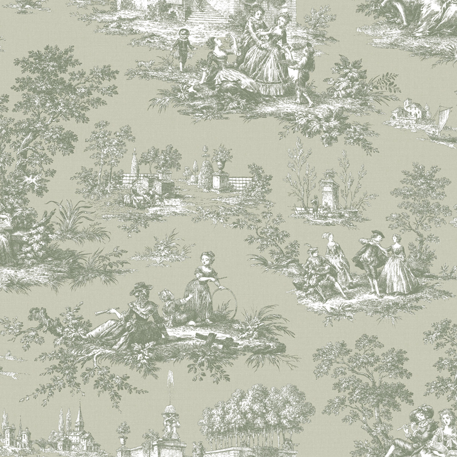 blooming garden 8 vinyl tapete auf vlies 004135 toile de jouy euro m ebay. Black Bedroom Furniture Sets. Home Design Ideas
