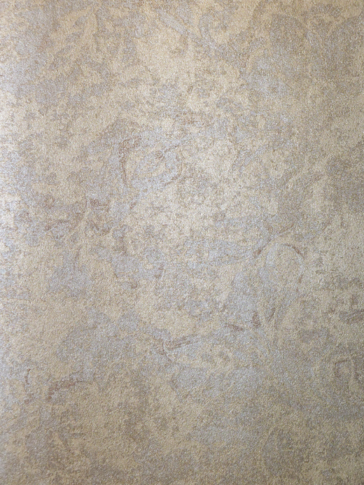 PURE by Dieter Langer Vlies-Tapete Damast Beige-Metallic ...