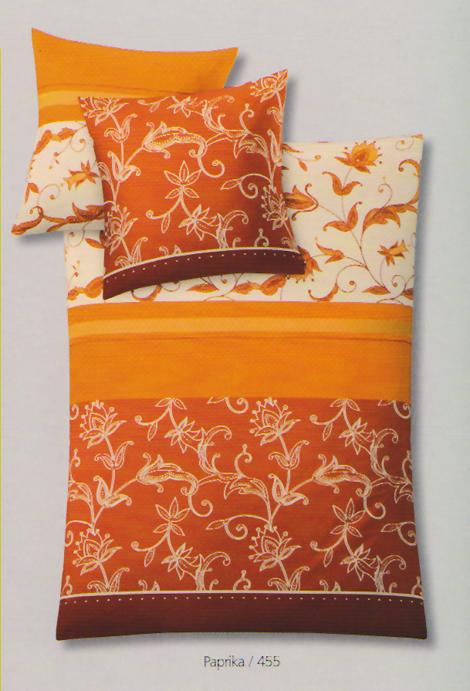 kleine wolke mako jersey bettw sche nancy paprika 455 ebay. Black Bedroom Furniture Sets. Home Design Ideas