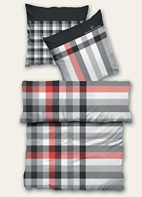 tom tailor bed bath biber bettw sche 09342 805 grau ebay. Black Bedroom Furniture Sets. Home Design Ideas