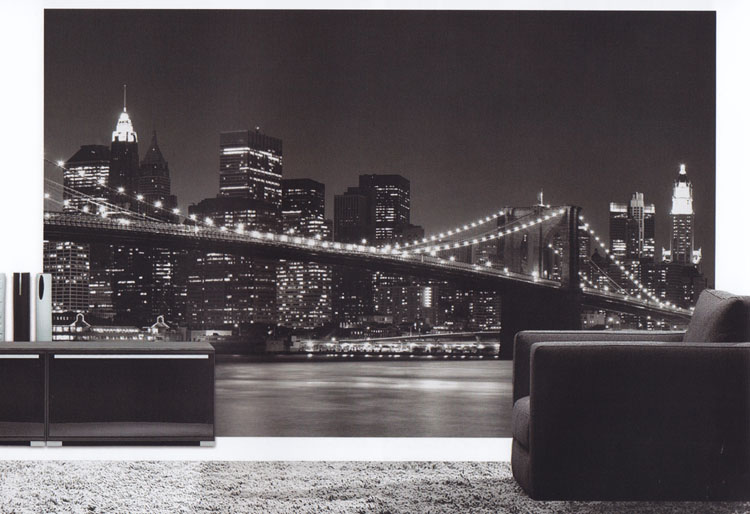 fototapete wandbild new york skyline 2 54 x 3 66 m inkl kleister euro m ebay. Black Bedroom Furniture Sets. Home Design Ideas