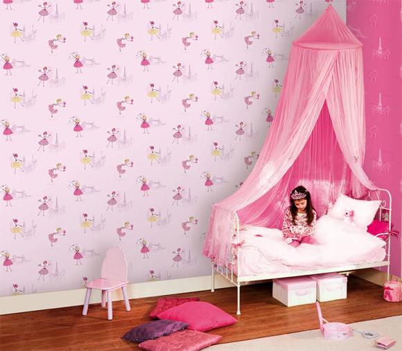 Kinderzimmer Tapeten Flieder : Hoopla Tapete Kinderzimmer-Tapeten Girlie flieder DL30714 (4.20 Euro