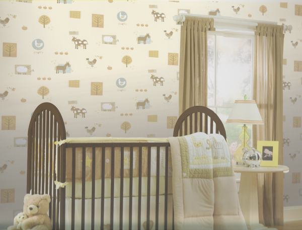 hoopla tapete bauernhof tapete braun blau dl30718 euro pro m ebay. Black Bedroom Furniture Sets. Home Design Ideas