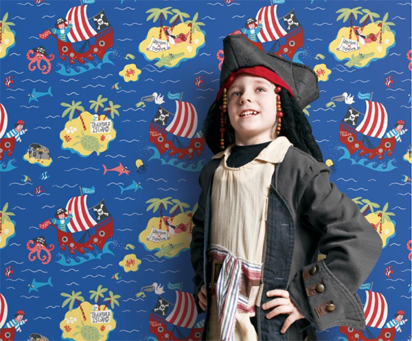 Kinderzimmer Tapete Vlies : Just 4 Kids Vlies-Tapete Kinderzimmer Piraten beige G56039 (7.50 Euro