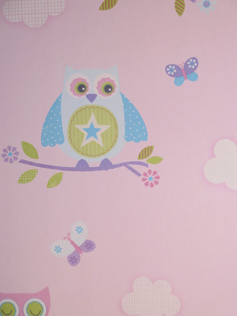Kinderzimmer Tapete Vlies : Just 4 Kids Vlies-Tapete Kinderzimmer Eulen rosa G56036 (7.50 Euro pro