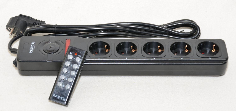 mehrfach steckdosenleiste mit fernbedienung 5 ports einzeln schaltbar ebay. Black Bedroom Furniture Sets. Home Design Ideas