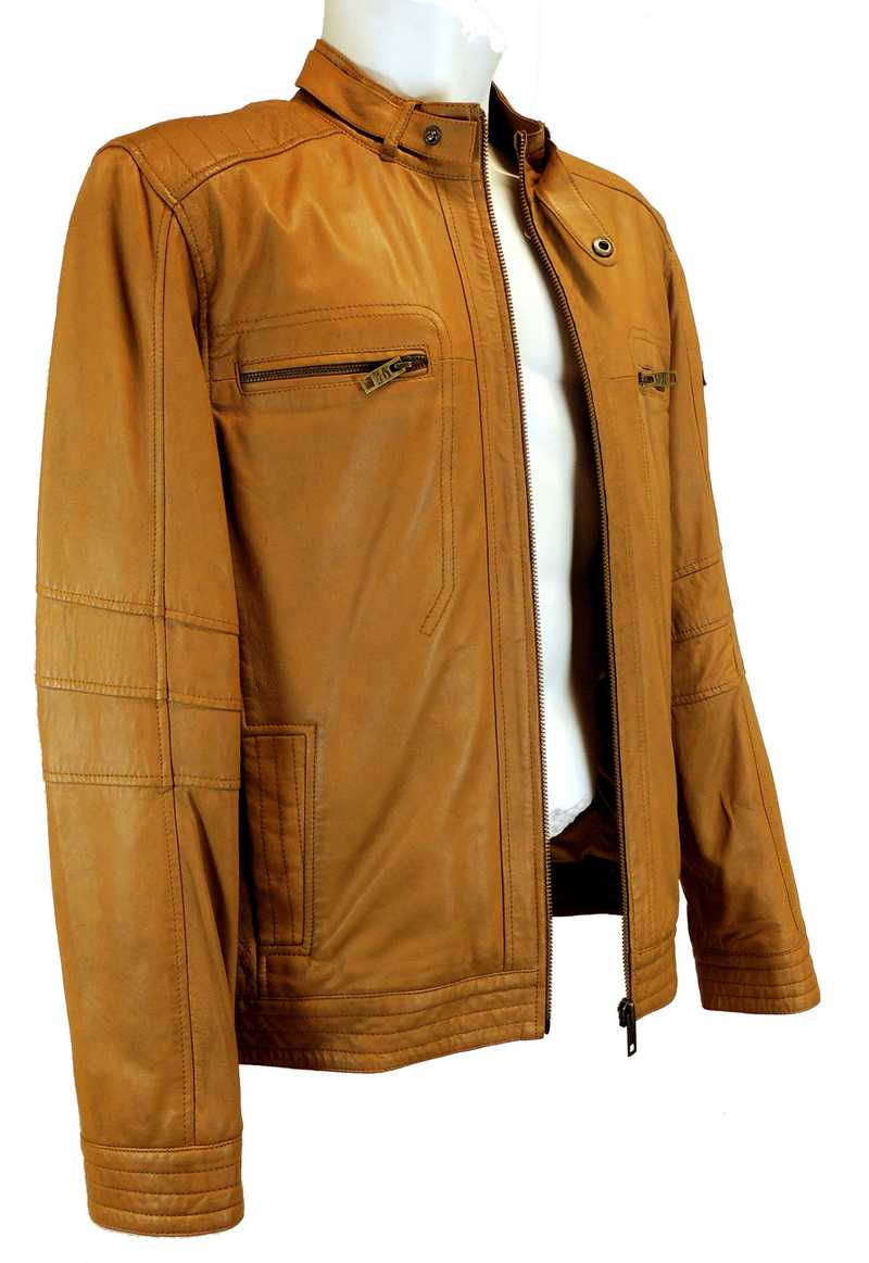 camel active herren lederjacke echtleder 7888 lammnappa cognac neu ebay. Black Bedroom Furniture Sets. Home Design Ideas